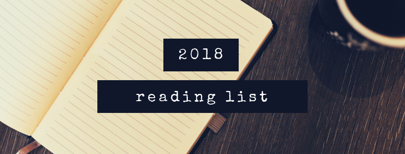 Banner photo that says: 2018 Reading List